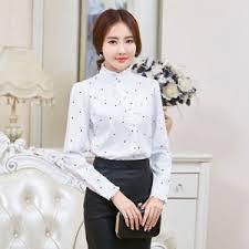 high neck ruffle blouse ruffle collar shirt chiffon high neck button frill