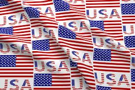 Usa Flag Photos Usa Flag U0026 Name Fabric Auntieshoe Spoonflower