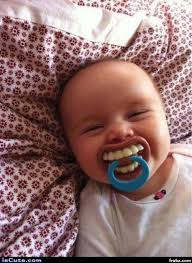 Big Baby Meme - big grin pacifier baby meme generator captionator caption