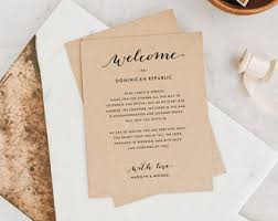 printable wedding itinerary welcome card template