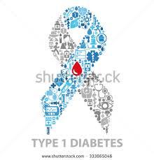 diabetes awareness ribbon made icons stock vector