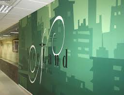 Corporate Office Wall Graphics On Behance Creative Process - Wall graphic designs