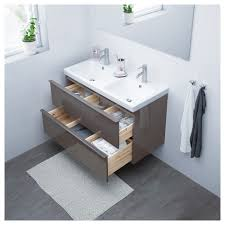 godmorgon odensvik sink cabinet with 2 drawers high gloss