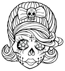 printable coloring pages sugar skulls sugar skull color pages skull coloring page sugar skull coloring