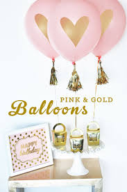 pink and gold balloons pink and gold bridal shower
