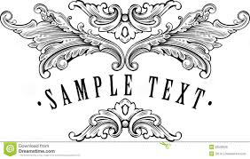 vintage ornamental frame template for your title royalty free
