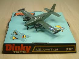dinky toy beechcraft baron us army aircraft this diecast model