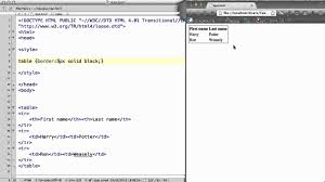Css Table Border Color Css 17 Table Border Collapse Width And Height Youtube