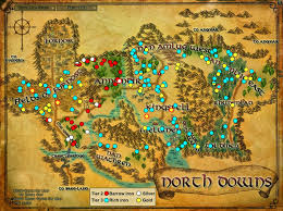 The Shire Map Wonderful Places In Lotro U0027s Middle Earth Ore In Lotro And Where