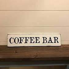 coffee bar sign coffee sign rustic wood sign