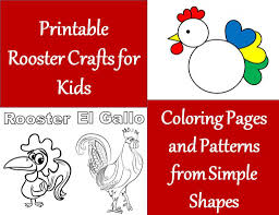 printable rooster crafts for kids wehavekids