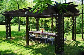 backyard structures enhance outdoor dining and entertaining