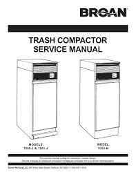 broan 1051 j service manual