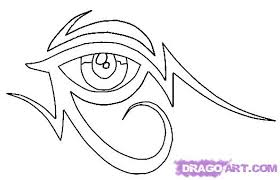 6 how to draw a tribal egyptian eye tattoo