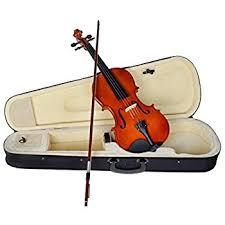 violin black friday sale amazon com zenison violin 4 4 scale full size natural wood fiddle