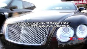 diamond bentley 2007 bentley continental gt rare diamond edition 97 999 youtube