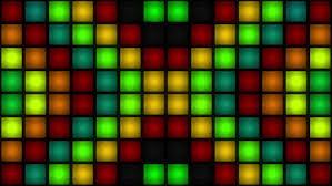 vj colorful box lights strobe lights bulb wall