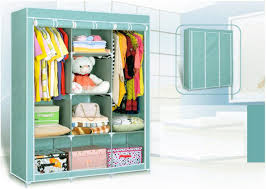 nice details about portable closet rack storage organizer wardrobe