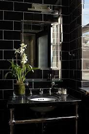 Black Modern Bathroom Back In Black With 10 Bathroom Design Ideas