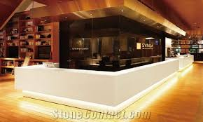 Gloss White Reception Desk High End Marble High Gloss White Modern Office Reception Desk From
