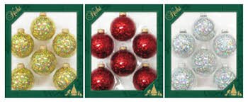 12 pack by krebs solid glass ornaments 6 pack tv310021a