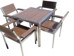Outdoor Balcony Set by Outdoor Furniture Hawthorn Dining Sets 5pc Mod Wood U2013 Robcousens