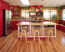 Kitchen Cabinets And Flooring Combinations Sensational Red Kitchen Colors Inspired By Sour Cherries