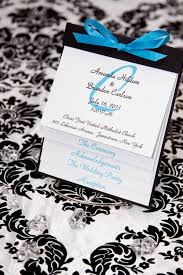 layered wedding programs layered wedding program wedding colours damask and turquoise