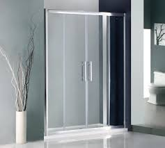 Plastic Shower Doors Sliding Appealing Sliding Shower Doors Decorated With Metal Linen On It