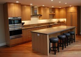 Kitchen Island Wood Countertop by Woodwork Designs For Indian Kitchen Shaped Dark Wood Island With