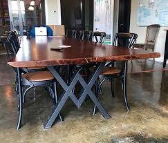 Live Edge Conference Table Live Edge White Oak Conference Table Industrial Modern Live