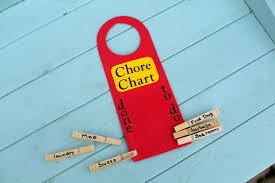 dollar store craft door hanger chore chart kix cereal