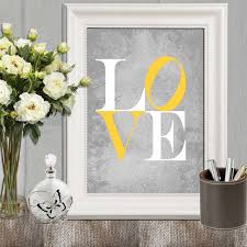 Yellow And Gray Wall Decor by Love Print Yellow Gray Love Printable Nursery Love Print