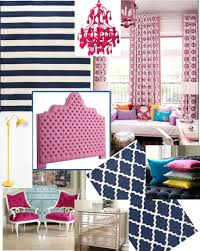 Navy And Pink Curtains Alluring Pink And Navy Bedroom Photography Paint Color Is Like
