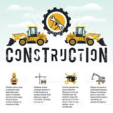 vector illustration on the theme of a construction site icons of