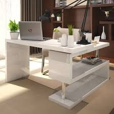 Office Computer Desk Furniture White High Gloss Rotating Office Desk Furniturebox