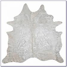 Faux Cowhide Rugs Black And Silver Cowhide Rug Rugs Home Design Ideas