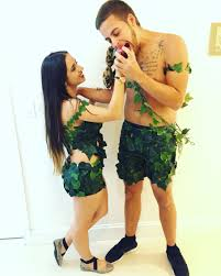 halloween costume idea for couples adam u0027s costume shorts either green boxers or brown cargos