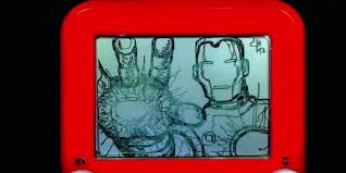 christoph brown u0027s etch a sketch u0027avengers u0027 images business insider