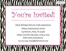 free birthday invitations