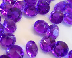 gems for table decorations high quality sparkle purple table gems crystals 7mm x and