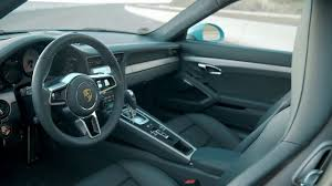 porsche 911 interior 2016 porsche 911 carrera s in miami blue design interior video
