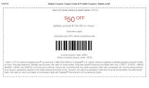 staples black friday online deal alert the 50 off tablets coupon is back at staples for one