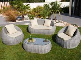 canape de jardin en resine tressee pas cher mobilier de jardin resine tressee pas cher l univers du jardin