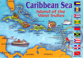 Map Of The Caribbean Detailed Tourist Illustrated Map Of The Carribean Sea Jamaica