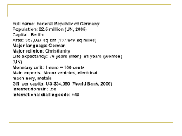 us area code from germany germany year of entry founding member political system federal