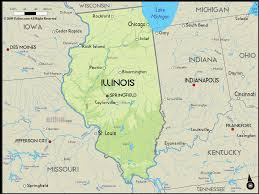 illinois map usa geographical map of illinois and illinois geographical maps