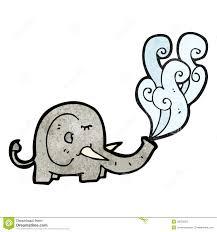elephant water cartoon stock vector image 38029369