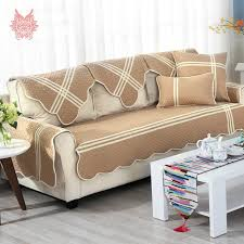 canape style style khaki striped sofa cover cotton quilting sectional