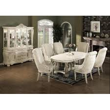 esofastore traditional formal white wash antique 7pc dining set